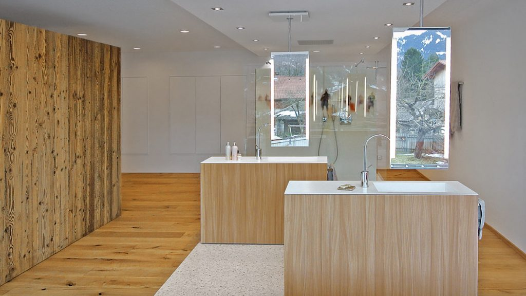Gestaltung des Waschplatzes im Badezimmer